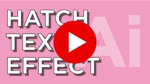 hatch text effect illustrator tutorial on youtube