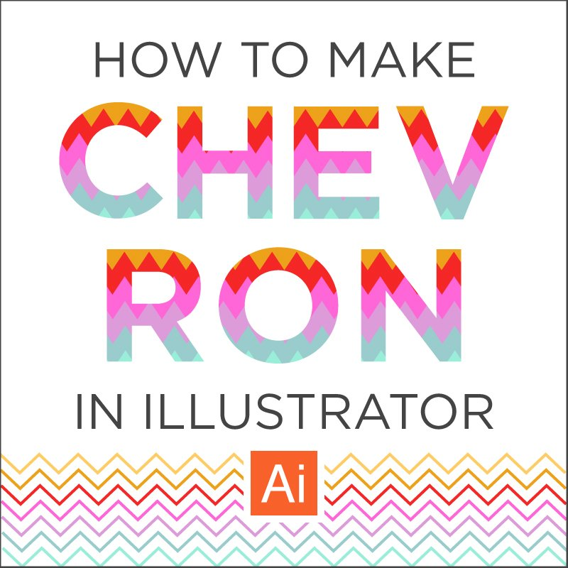 How to Make Chevron Easy Tutorial in Illustrator