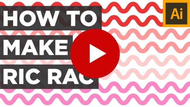 Ric Rac Illustrator Easy Tutorial