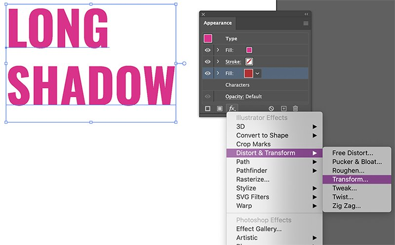 Long Shadow Effect Illustrator Tutorial