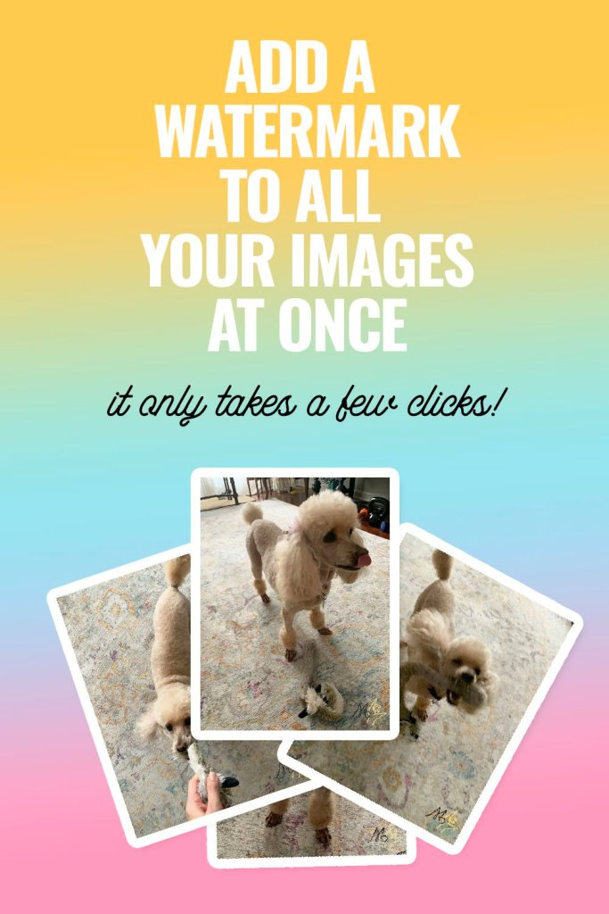 watermark your photos in one click with batch process and photoshop actions