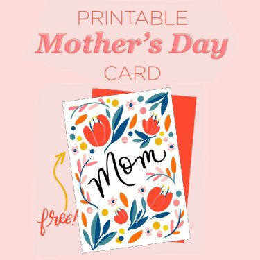 Free Printable Floral Mothers Day Card Download