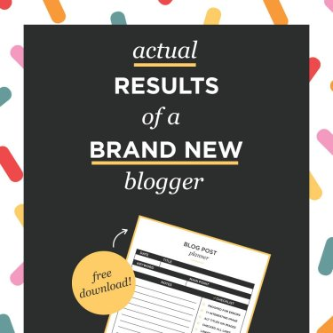 real results of a brand new blogger