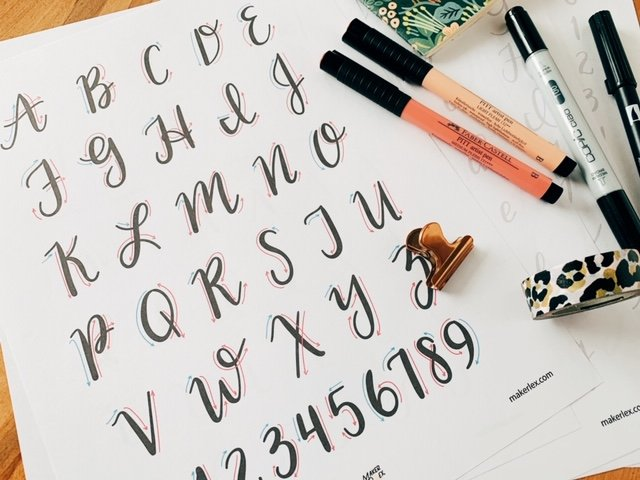 Free Hand Lettering Guides