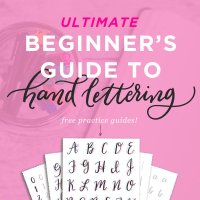 Free Hand Lettering Practice Sheets - Printable Brush Pen Lettering Guides