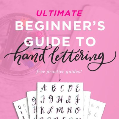 Free Hand Lettering Practice Sheets – Printable Brush Pen Lettering Guides