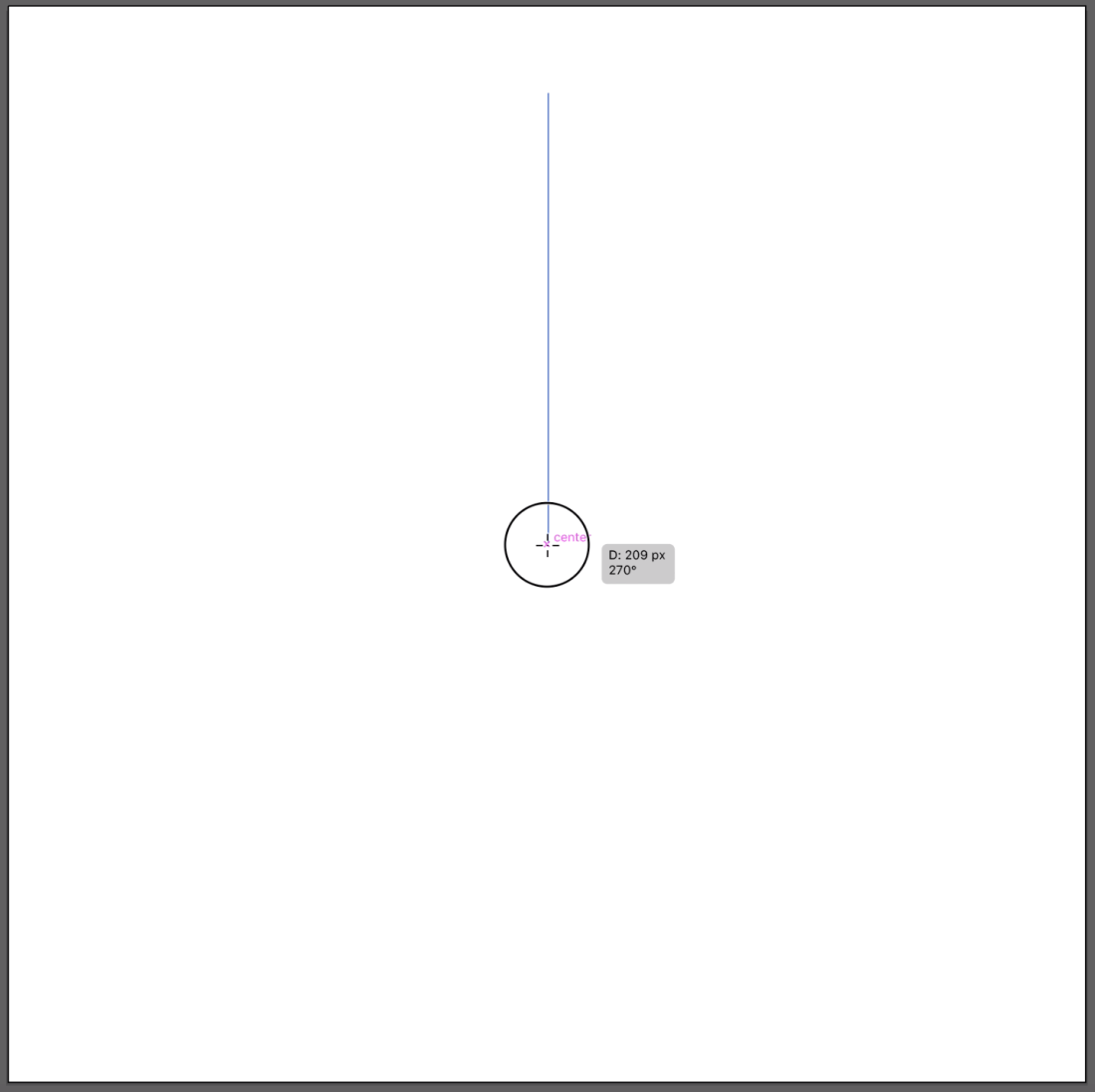 snowflake icon illustrator step 2
