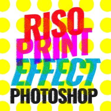 riso print effect photoshop