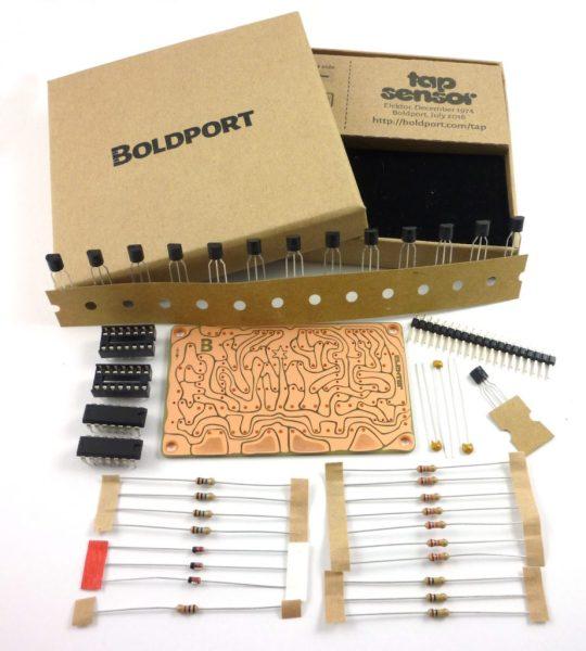 Boldport Tap Sensor Kit Contents