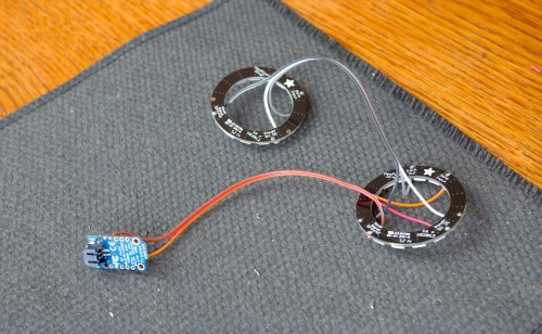 Wiring Two Neopixel Rings and trinket