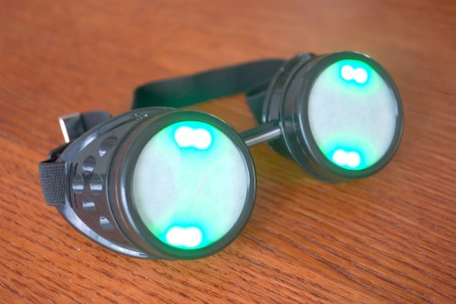 Finished Neopixel Goggles