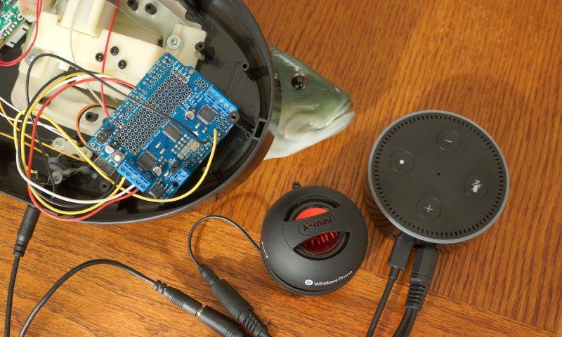 Learn how to hack a Billy Bass signing fish to animate the voice of Amazon's Alexa.