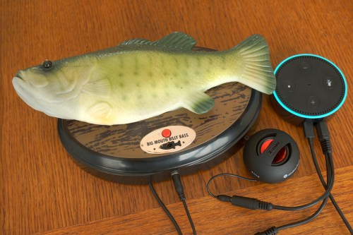 Make an Amazon Alexa talk through an animatronic Billy Bass singing fish.