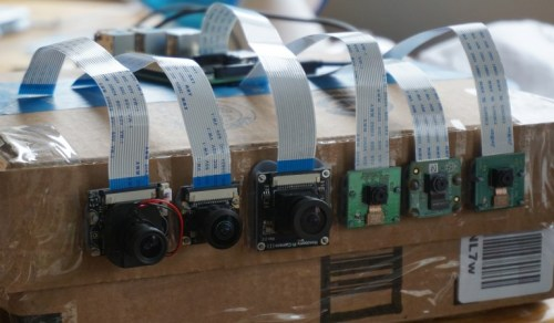 Raspberry Pi cameras set up