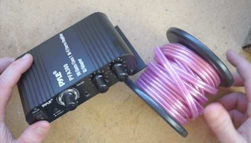 Amp and speaker wire
