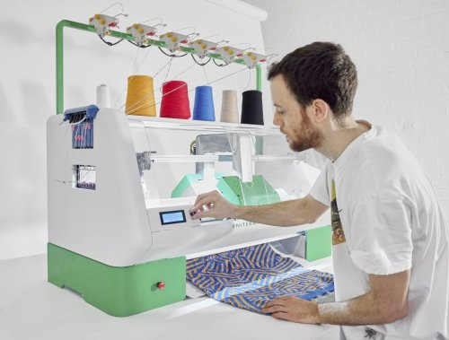 Kniterate CNC knitting machine in use