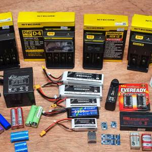 Batteries & Chargers & Connectors & Holders