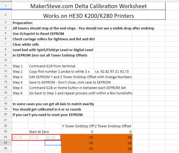 Ultimate Guide to calibrating the HE3D K200 or K280 with Repetier