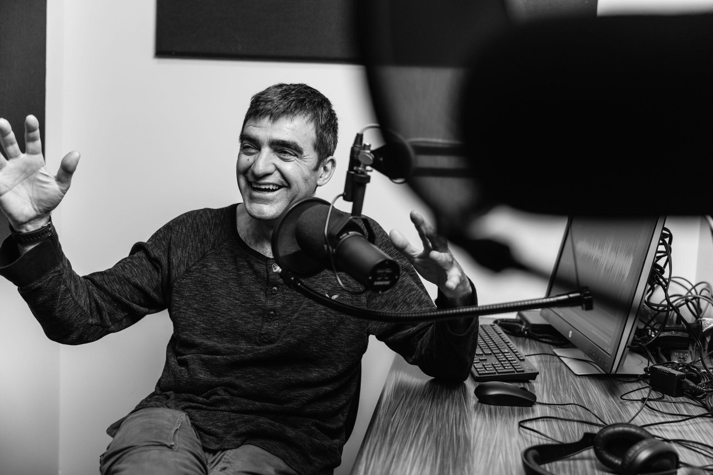 Photo of Podcast host Nino Ricci