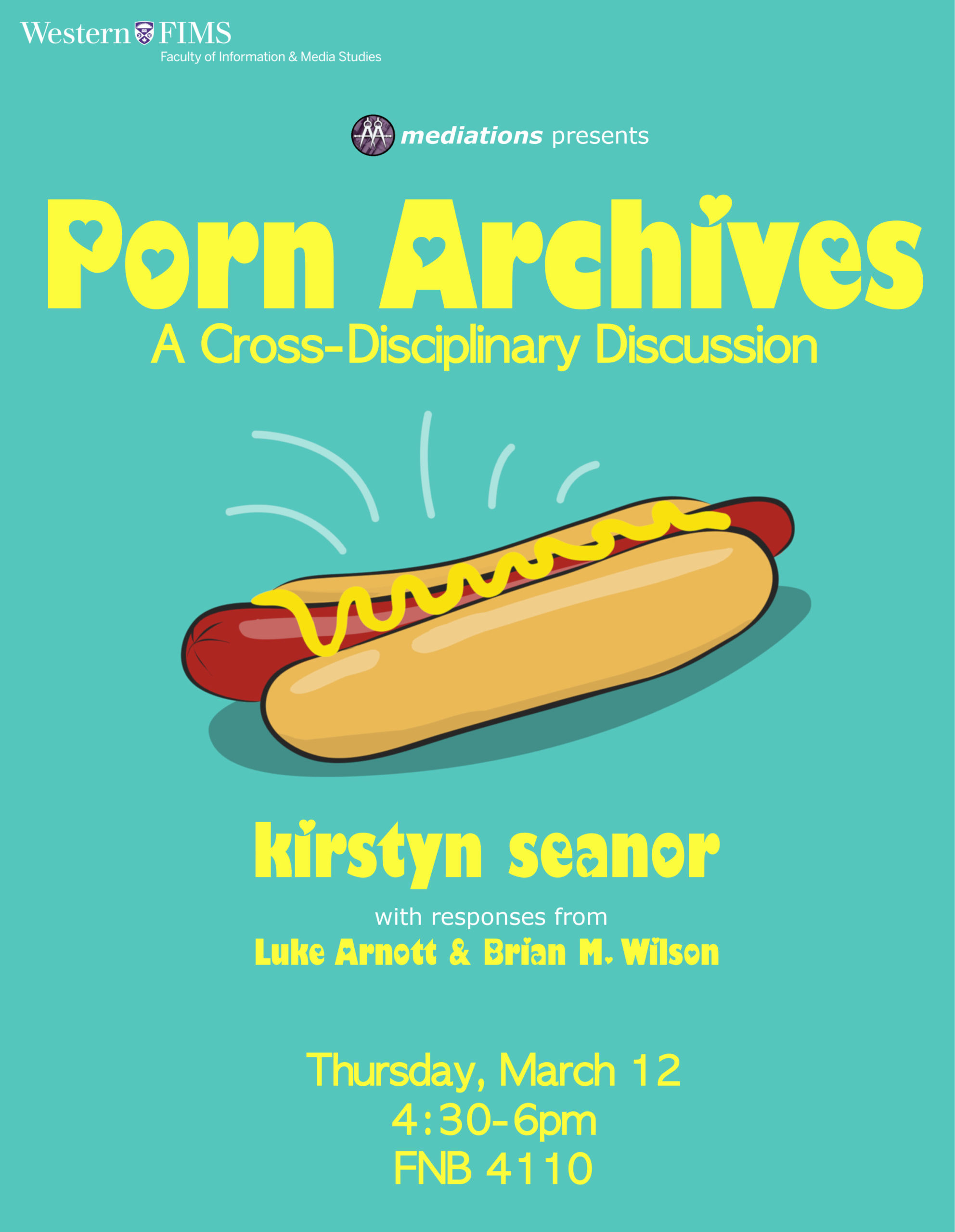Poster for the Porn Archives lecture