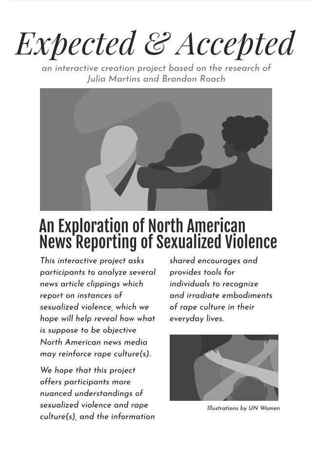 Page 1: Accepted and Expected: An Exploration of North American News Reporting of Sexualized Violence