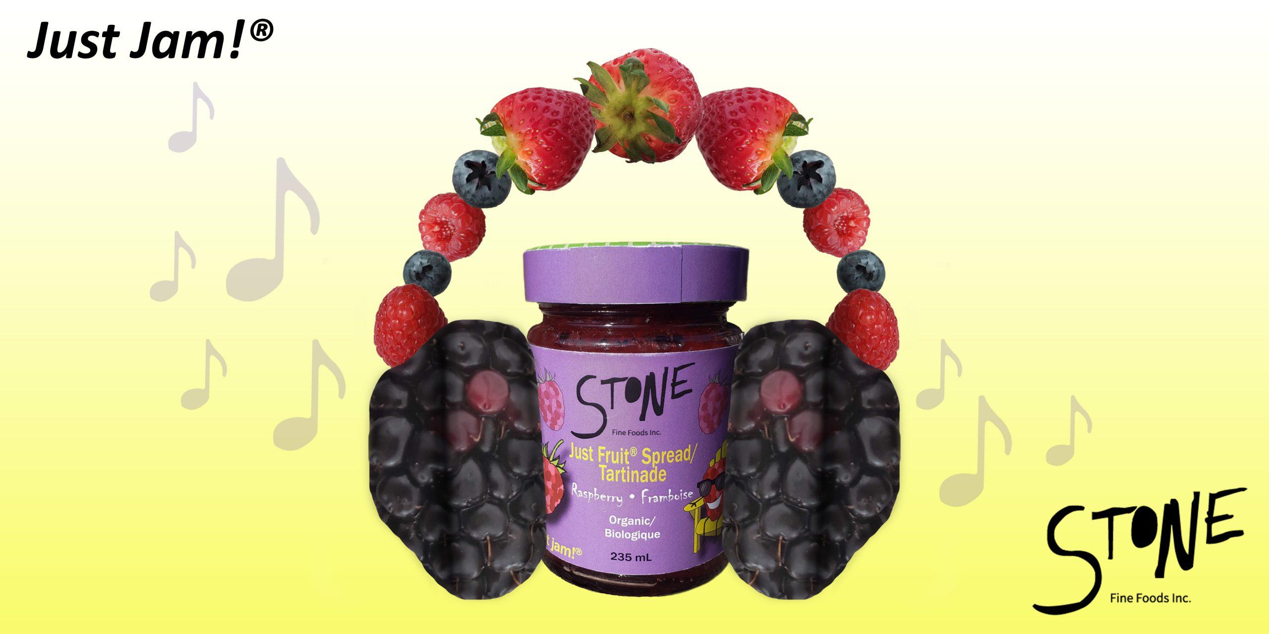 Billboard advertisement for Stone fruit spread