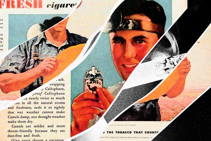 Newspaper advertisement for Camel cigarettes