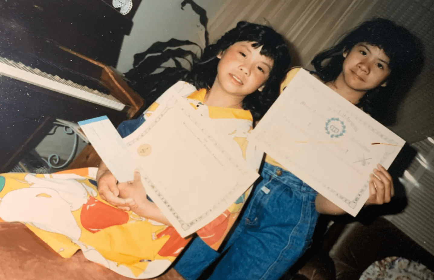 Florence Hwang as a youth
