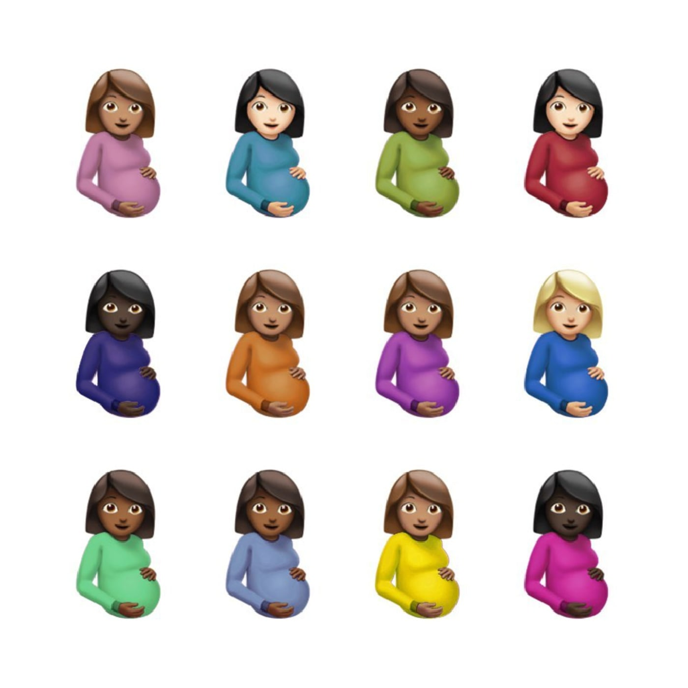 Album cover art for Drake's CLB featuring 12 emojis of pregnant women