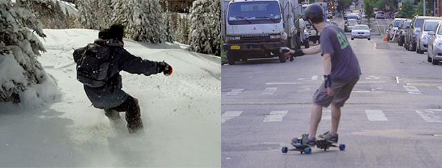 LEIF SNOWBOARD STRADA ELETTRICO