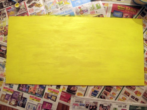 Yellow paint on wood