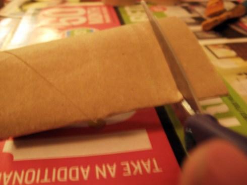 cutting cardboard rolls