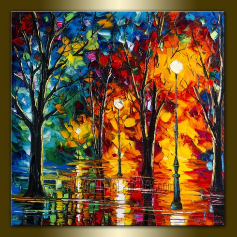Palette knife painting