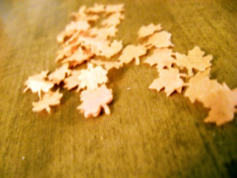 tissue paper leaves
