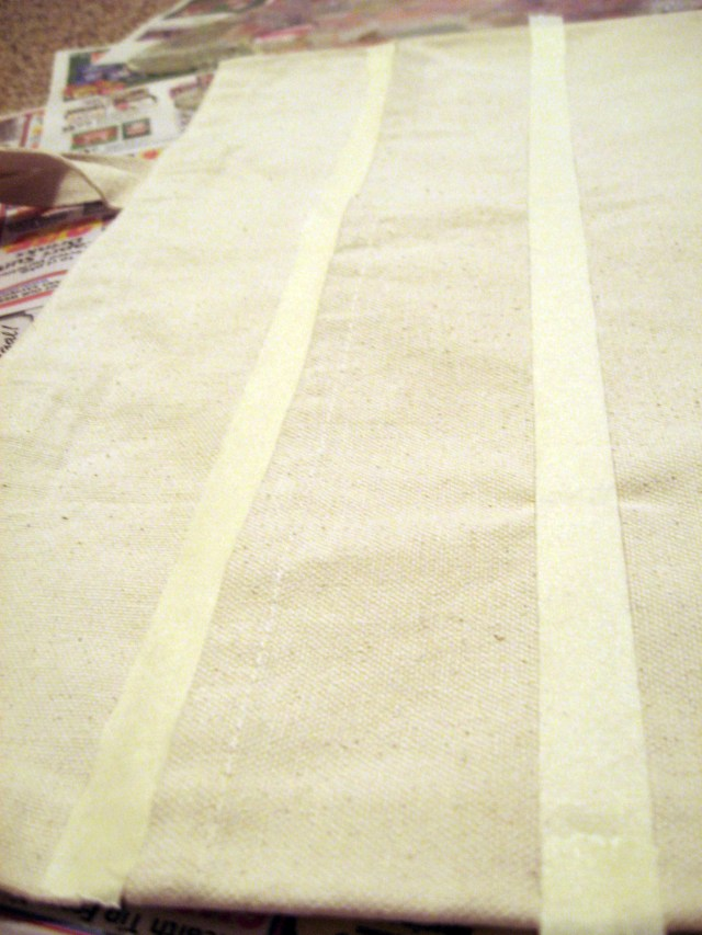 lay out your masking tape