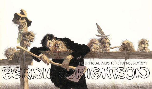 Comic book art by Bernie Wrightson