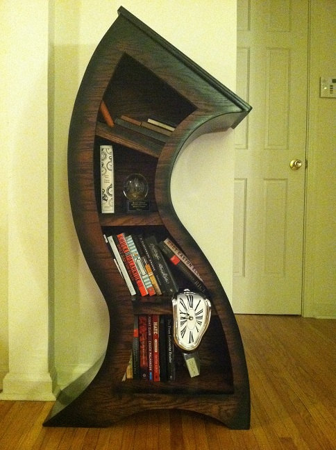 Melting bookshelf