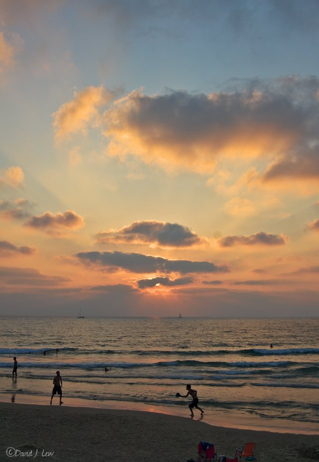 sunset- by David J. Lew- Earthquake Boy