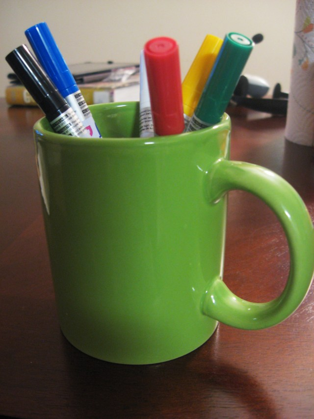Materials needed for the sketch mug