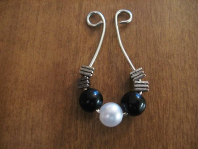 DIY Beaded Hoop Earrings base