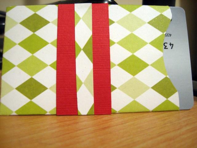 Christmas themed gift card envelope