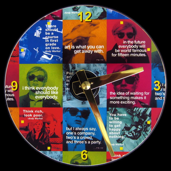Andy Warhol Clock
