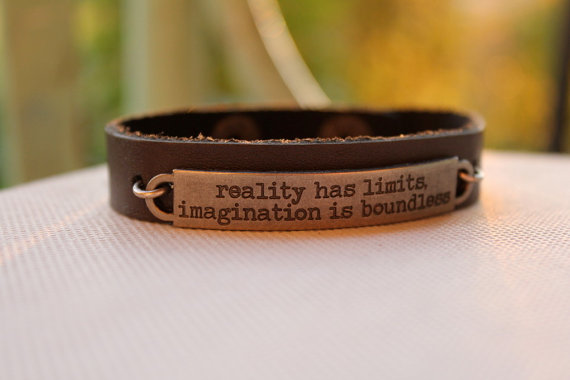 leather quote bracelet