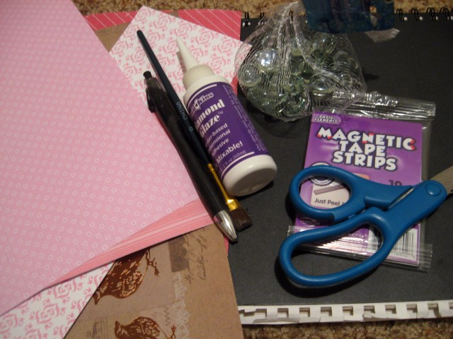 DIY Valentine's Day Conversation Magnets materials