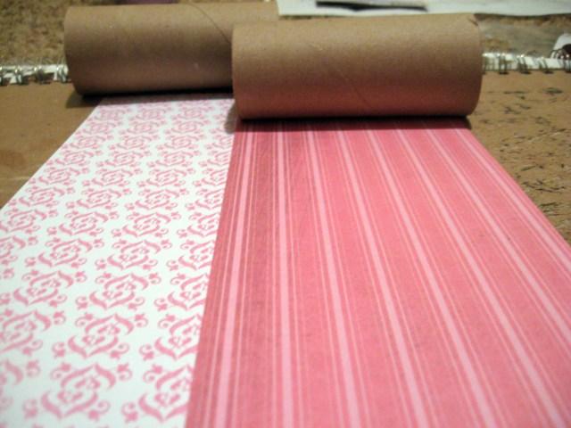 scrabook paper and TP rolls
