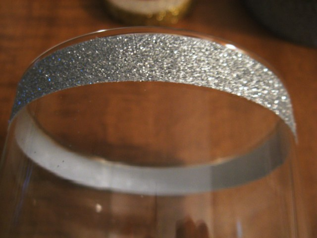 Glitter tape at top