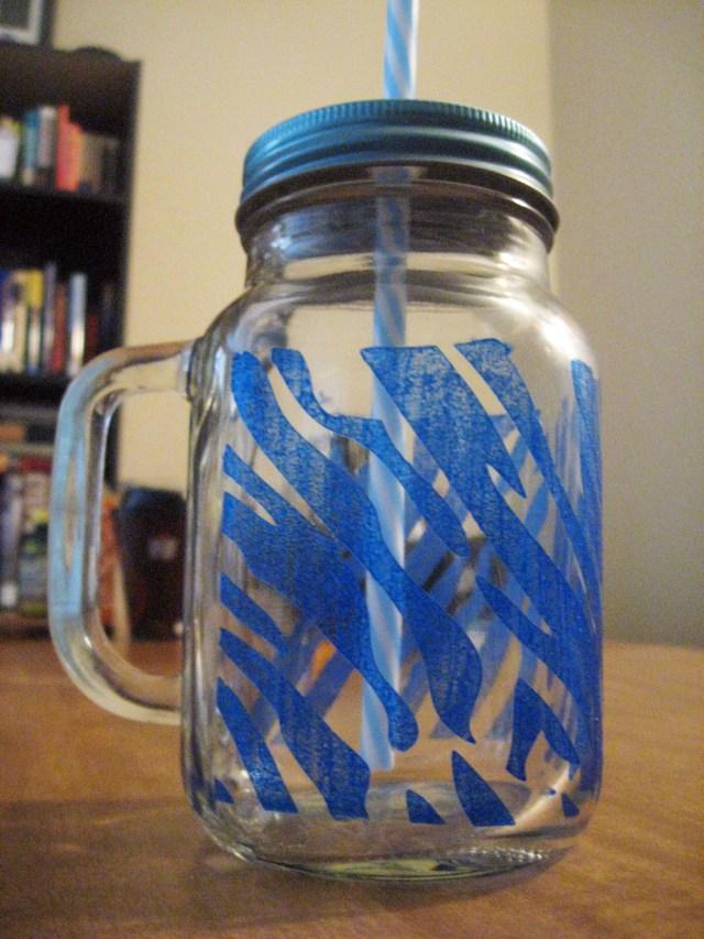 DIY painted glass-mug