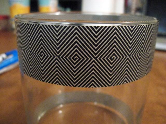 Washi Tape jar decoration