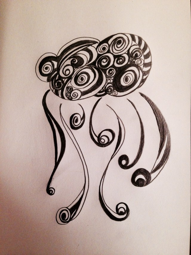 Abstract cloud doodle