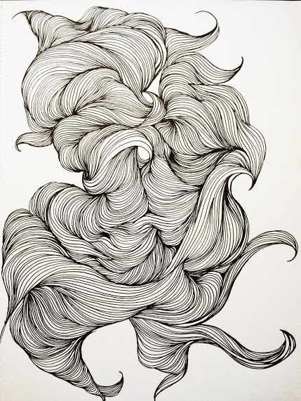 InkTober Drawing by Jennifer Broderick